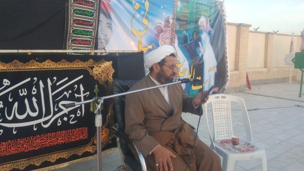 مراسم ویژه چهلمین روز ارتحال ابوالشهید مرحوم آیت الله بیانی(ره) در زابل برگزار شد.