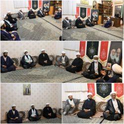 تنی چند از مسئولان دستگاههای اجرایی با حجت الاسلام عزیزی دیدار نمودند