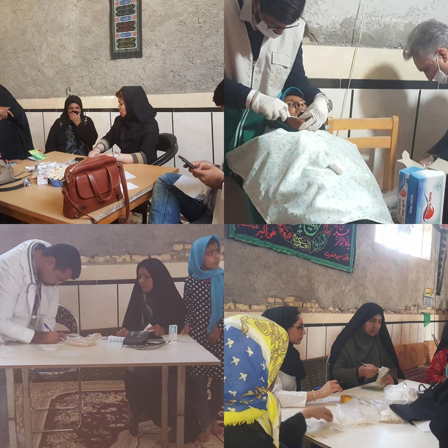 پزشکان جهادی خادمیار سلامت رضوی، در روستای شیخ آباد زابل به مداوای بیماران پرداختند