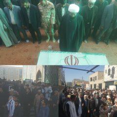 پیکر پاک مرزبان شهید استوار دوم محمد نوری پس از تشییع در شهرستان زابل جهت خاکسپاری به زادگاهش منتقل شد.
