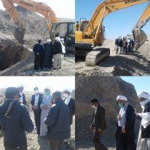 آبیاری اراضی ناحیه عمرانی نیمروز ۳ از طریق انهار سنتی شروع شد