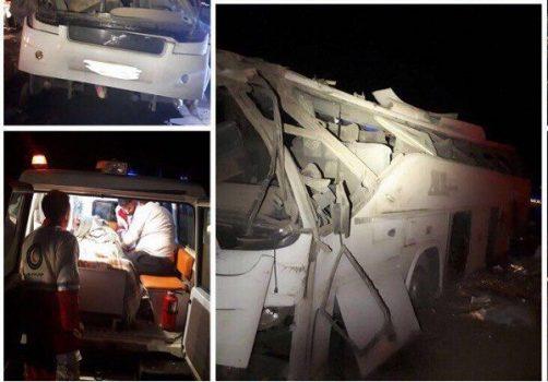 واژگونی اتوبوس مسافربری محور زاهدان – یزد، ۲۴ کشته و زخمی برجای گذاشت + اسامی مجروحان