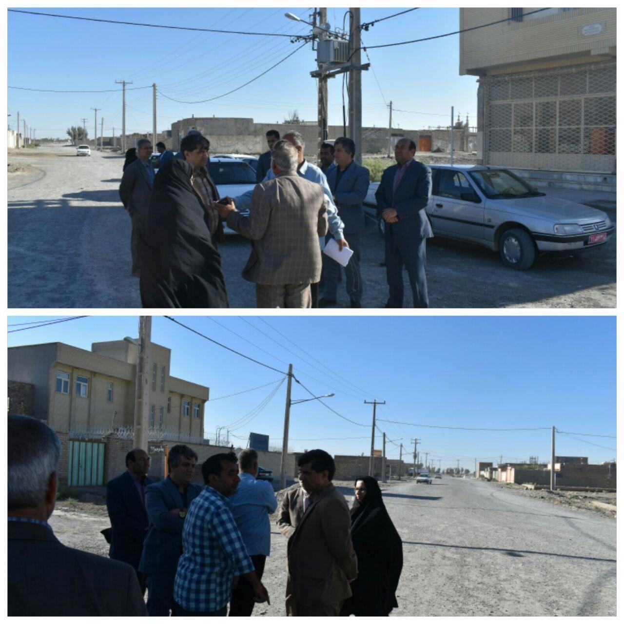 بازدید فرماندار شهرستان زابل در معیت تعدادی از مدیران دستگاههای اجرائی از محله شیخ آباد