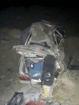 واژگونی خودروی سواری پژو در محور زاهدان _ زابل