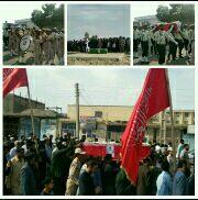 تشیع پیکر پاک شهید سرافراز مدافع امنیت، شهید فرشید چیت بند، در شهرستان زهک