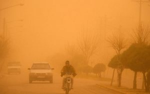 غلظت ذرات معلق در هوای شهر زابل به ۲۲برابر حد مجاز رسید