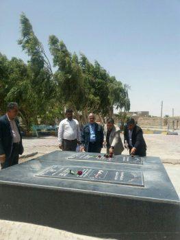  تجدید میثاق بخشدار جدید بخش مرکزی شهرستان زابل با آرمانهای شهداء